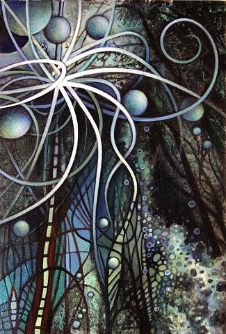 ladder, stairway to heaven, atoms,Tangle, spirial, CERN, Particle Collision, Painting, Harmonics, Light, Structure, Science, Metaphysics, physics, astrophysics, outerspace, orbs, Energy, Nature