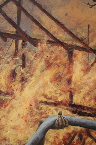 Burning August detail