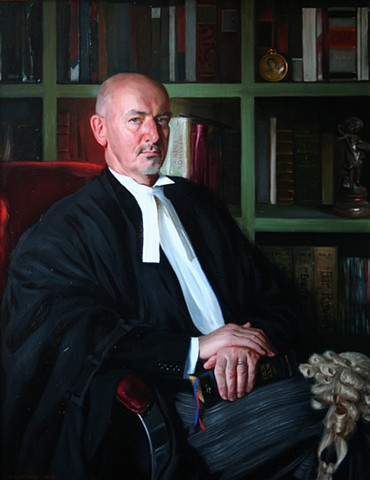 An Irish Barrister :  Portrait of Mr. Kieron Wood BL