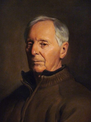 detail of Portrait of the Artist Mr. Donald Coakley