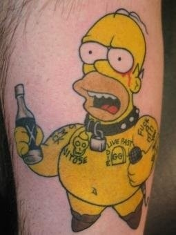 Scottish rose tattoo gg simpson for Homer simpson tattoos