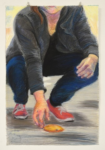 "10 Second Rule. 23.5"" x 35.25"". Pastel. May 2013. 5 Second Rule. Chocolate Chip Cookie Cookies. Self Portrait. Red Keds."