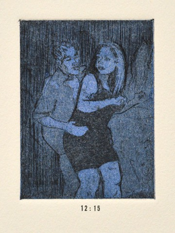 Girls Night Out Suite. 12:15. 12:15pm. Etching and Aquatint. December 2012.