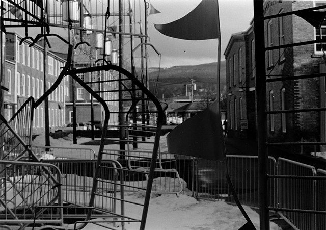 Sculpture in front of MASS MOCA Silver Gelatin Print January 2013