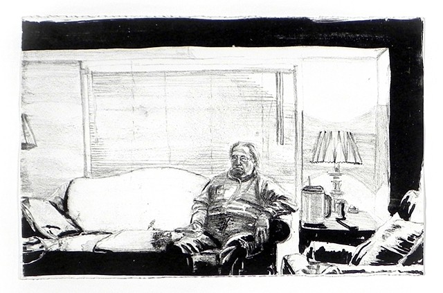 Dad. Lithograph. March 2010