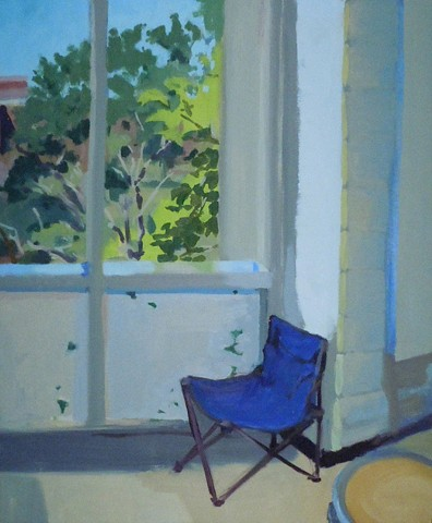 Blue Chair. Oil on Masonite. October 2010.