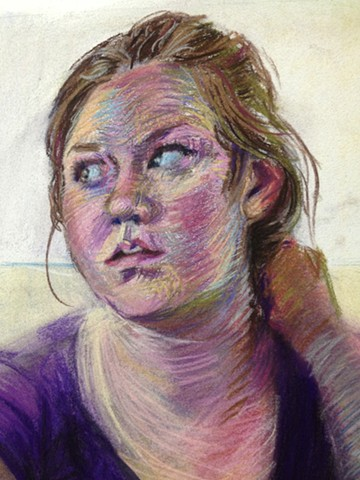 The Last Cookie (Detail). Pastel. May 2013. Self Portrait