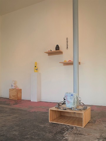 Installation view of Gathered Together and More Closely - solo exhibition at Bill's Junk in Houston, TX
