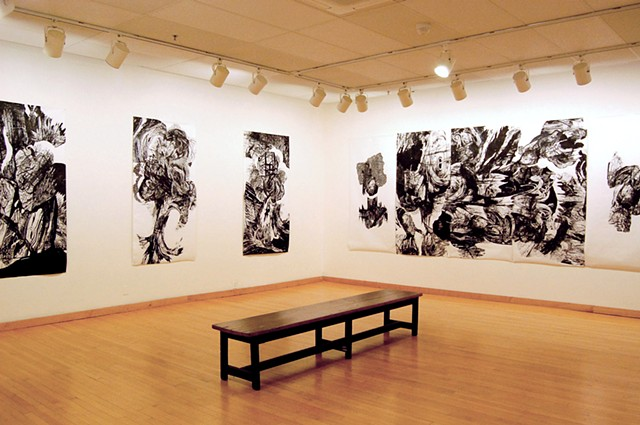 the fleisher art memorial wind challenge exhibition consisted of 13 large scale multiple block woodcuts