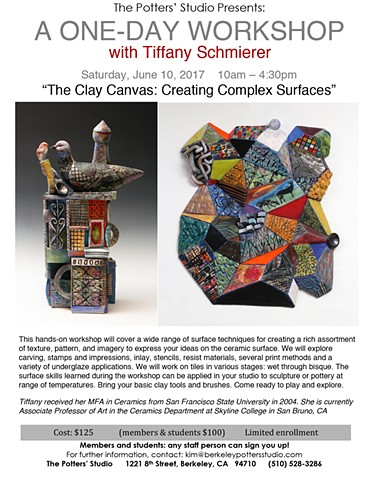 The Clay Canvas: Creating Complex Surfaces-One Day Workshop