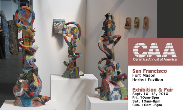 Ceramic Annual of America 2010 Fort Mason, Herbst Pavilion San Francisco, CA Installation view
