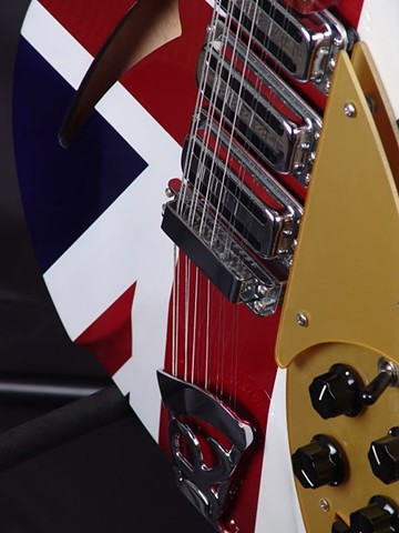 Rickenbacker 340 Classic Union Jack Refinish--Extreme Close Up of Body