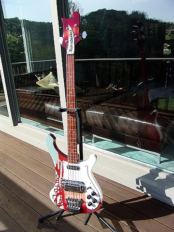 Magical Mystery Tour Rickenbacker Bass--Front View--Finished Bass