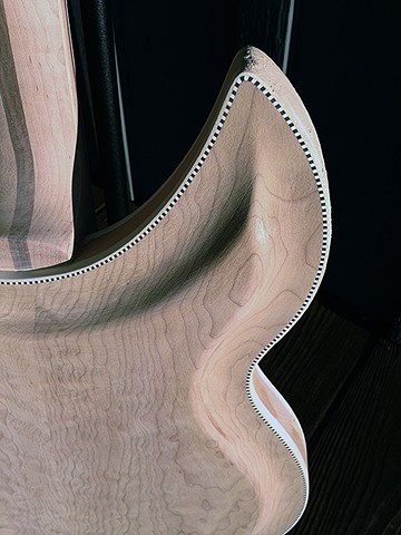 Rickenbacker 381 Custom--Back of Guitar Softened by Sanding