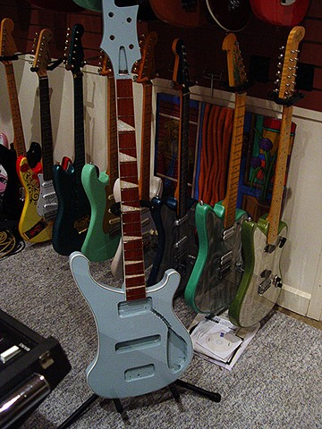 Rickenbacker 1972 Blue Boy 4001--Portrait, Curing Clear Coat