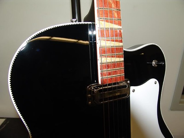 Rickenbacker 360F in Jetglo--Detail of Completed Guitar