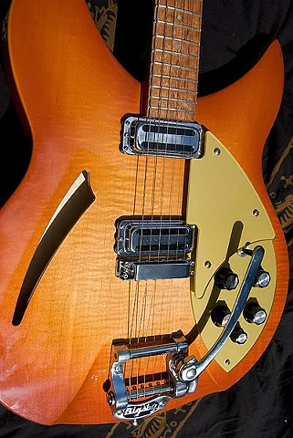 Rickenbacker 330 in Orange PopSicle Burst--Another View of Top