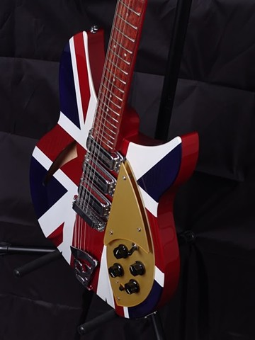 Rickenbacker 340 Classic Union Jack Refinish--Detail of Body Graphic