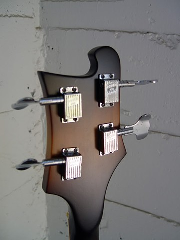 Back of Headstock Showing Rare Grover Die-Cast Tuners