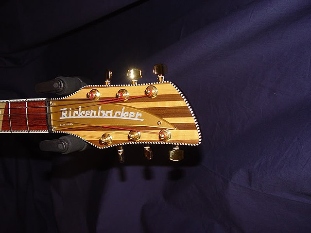 "Rickenbacker ""Jazzbo"" 760J--Headstock with Gold Nameplate, Original Schaller Tuners (Since Changed)"