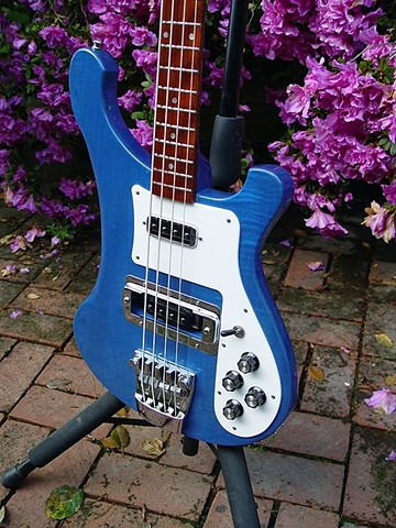 Rickenbacker Bass--Transparent Blue 4003S--Front Detail
