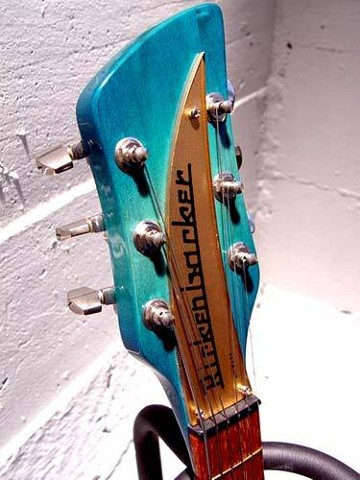Rickenbacker 325 in Custom Aquaglo Burst Finish--Headstock Detail