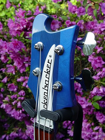 Rickenbacker Bass--Transparent Blue 4003S--Headstock Detail