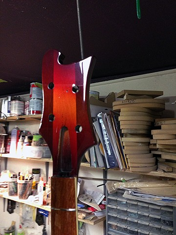 Rickenbacker '68 Vintage Fireglo 4001 Bass--Headstock After Buffing
