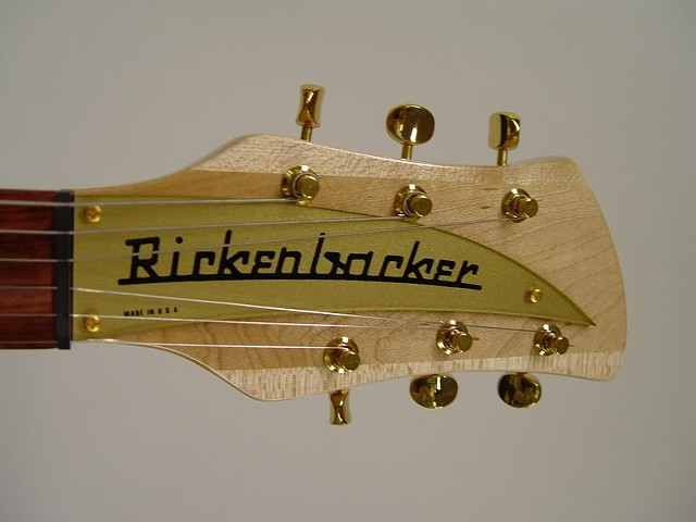 rickenbacker 350 With Gold-Plated Hardware and Gold Guards--Headstock With Gold-Plated Tuners and Gold Name Plate