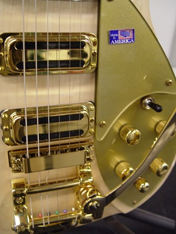 rickenbacker 350 With Gold-Plated Hardware and Gold Guards--Toasters, Guards, Gold-Plated Bigsby and Knobs