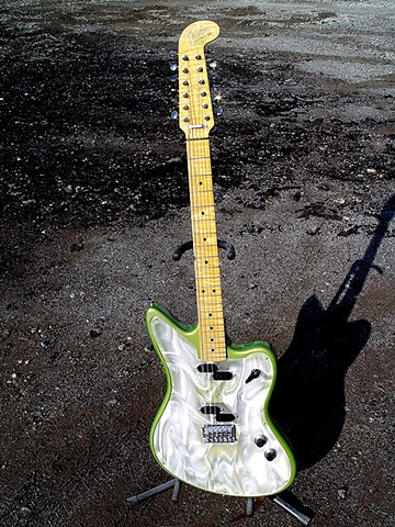 Fender Electric XII Custom Light Show in Prismatic Lime Green--Full-Length Portrait