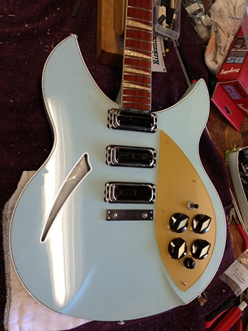 Rickenbacker 330 Custom Double-Bound 21-Fret Conversion--On the Workbench Prior to Installation of Bigsby B5