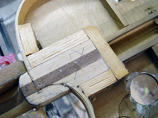 Rickenbacker 360F in Jetglo--Close Up of Neck Tenon