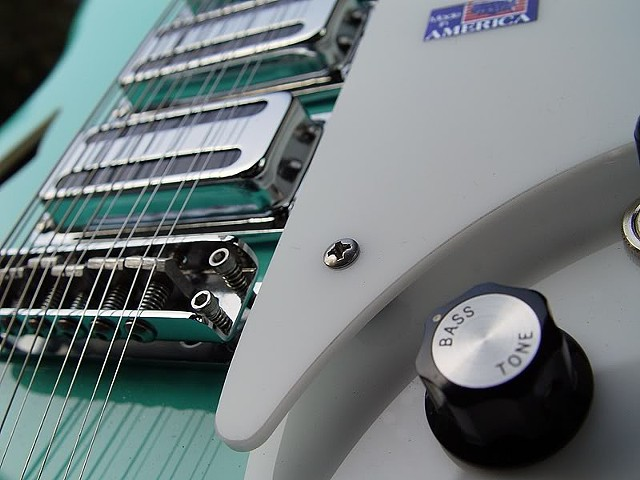 Rickenbacker 370/12 Sea Green With Piezo Pickup--Detail of Finished Body