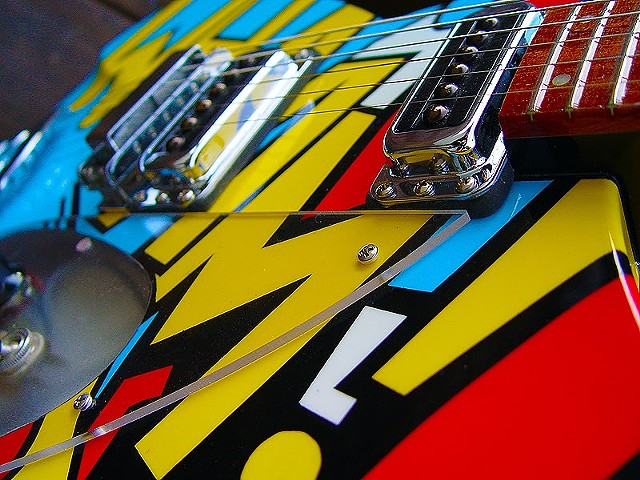 Rickenbacker 330 WHAAM! Paul Weller Replica--Close Up of Finished Guitar