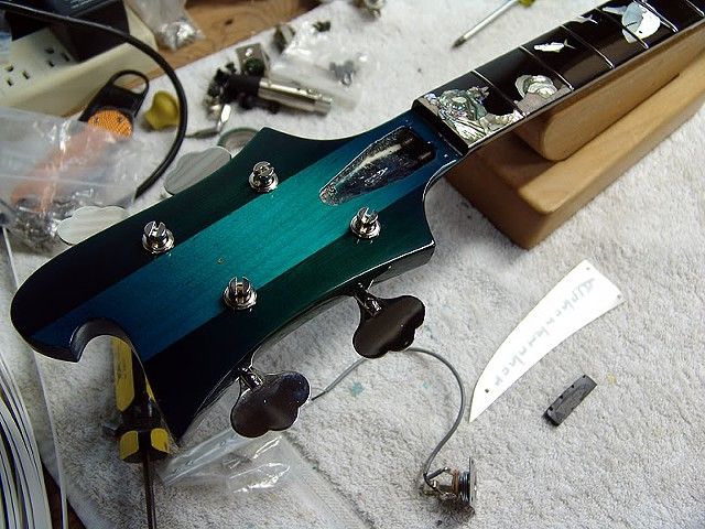 "Rickenbacker 4000 ""AquaBass""--Headstock"