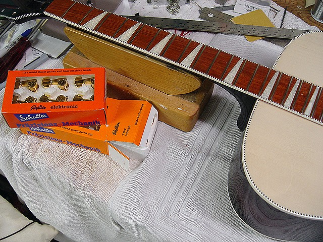 Rickenbacker 700C/12 Mary Kaye White/Wineburst--Preparing to Install Schaller Mini Tuners