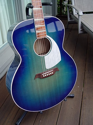 Lagoon Blue Spruce Front with Unique Pickguard