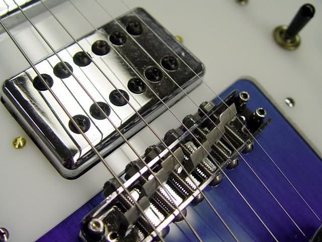 Rickenbacker 481 Blueburst Restoration--Extreme Close Up of Pickup and Bridge