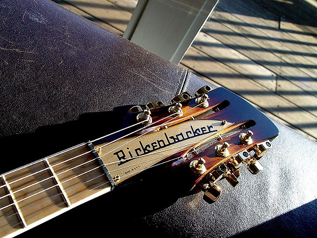 Rickenbacker 380L 12-String Conversion--Headstock, Maple Fretboard, Gold Nameplate Featured
