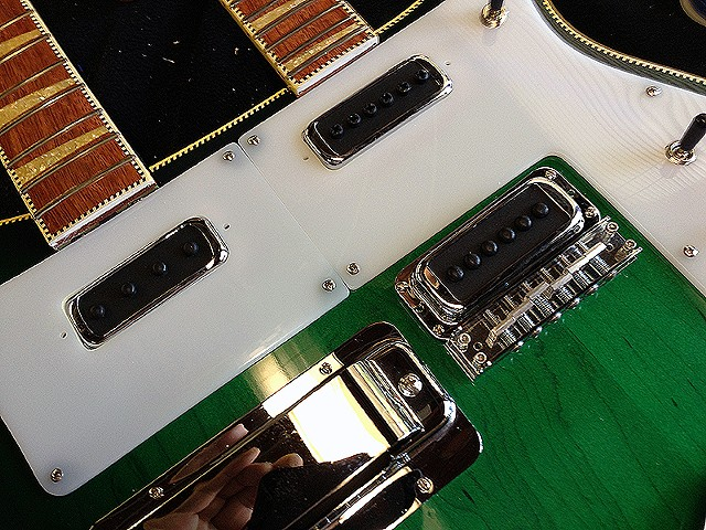 Rickenbacker 4080/6 for Al Cisneros of Sleep and Om--Top Detail During Final Assembly