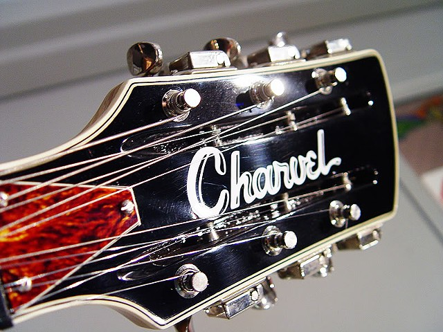"Charvel Surfcaster 12-String Restoration--Headstock with New ""Charvel"" Logo"