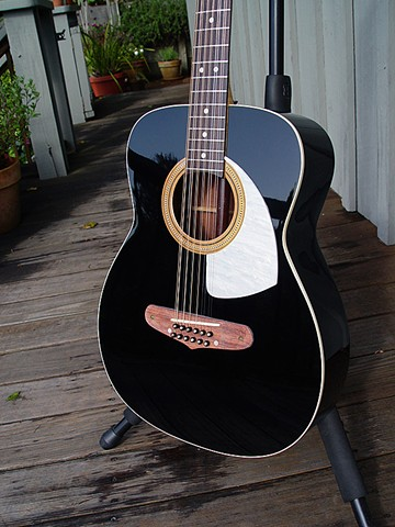 Fender 1968 Villager 12-String in Piano Black--Tedious Work Pays Off: Body Mirror-Smooth