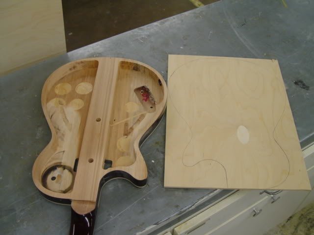 Gretsch Custom Hollow-Bodied Pro Jet: Body Hollowed, Ready For New Back