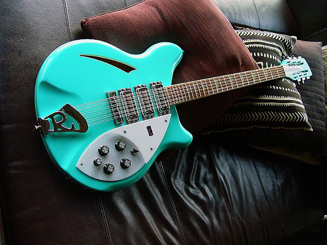 Rickenbacker 370/12 Sea Green With Piezo Pickup--Finished Guitar Takes a Well-Deserved Rest