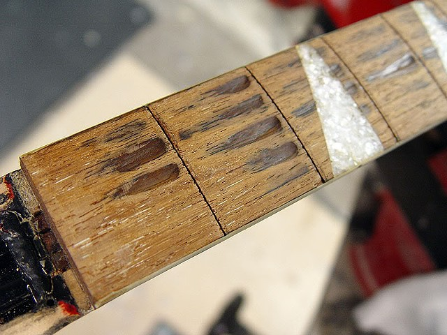 Rickenbacker 360F in Jetglo--Well-Worn Fretboard Will be Replaced