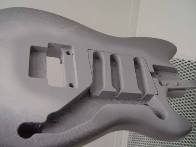 Primer Follows Body Routing for Pickups, Controls, Floyd Rose