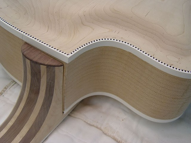 "Rickenbacker ""Jazzbo"" 760J--Another View of Test-Fitting Neck"