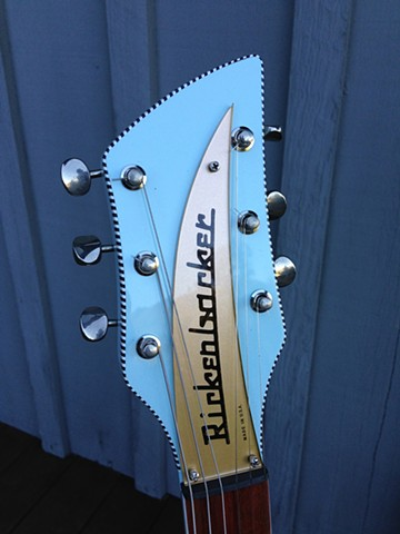Rickenbacker 330 Custom Double-Bound 21-Fret Conversion--Headstock Features Checkerboard Binding, Gold Nameplate