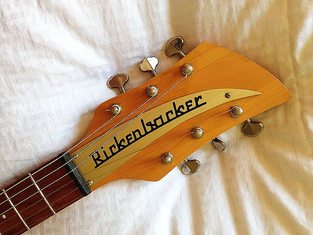 Headstock with Restored Rickenbacker Aluminum Nameplate